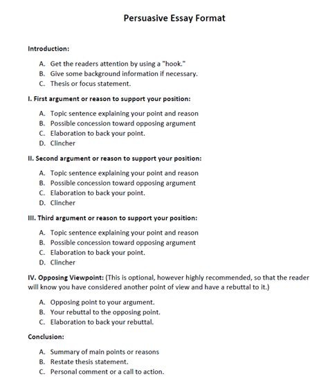 Essay Format by Persuasive Essay Exles Tips For Writing A Essay