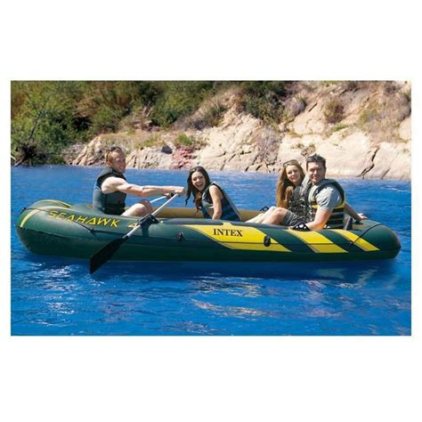 Seahawk 6 Person Inflatable Boat by Intex Seahawk 4 Person Inflatable Boat Fishing Boat Kayak