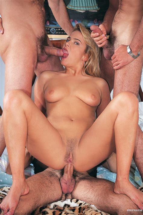 Blonde Slut Anita Rinaldi Reenacts Classic Gangbang Scene