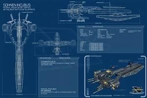 Blueprints Spaceships Incubus X3 Terran Conflict 3000x2000