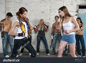 Street Fight Two Girls Fighting Stock Photo 70639624 ...