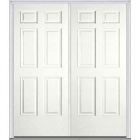mmi door 60 in x 80 in left inswing 6 panel classic