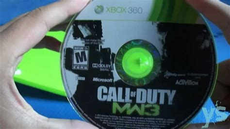 Unboxing Call Of Duty Modern Warfare 3 ( Xbox 360) Youtube