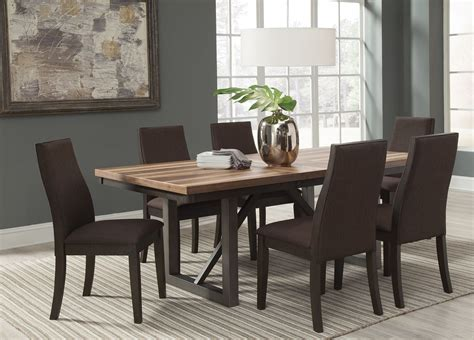 espresso dining room set creek brown espresso extendable dining room set