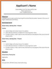 Work Resume Templates 9 Basics Cover Letters Bussines 2017