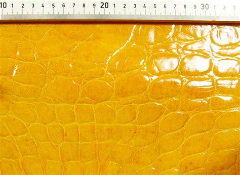 Leder Mit Krokodilleder-optik-prägung Honig-gelb 0,8-1,0 Mm #k105