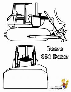 Digging Free Construction Coloring Pages | Excavator Coloring|