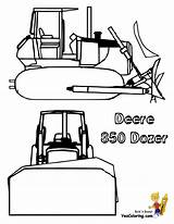 Coloring Pages Bulldozer Deere Sheets Skid Steer Construction John Dozer Machinery Yescoloring Excavator Farm Sheet Digging Ic Template sketch template