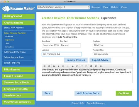 resume maker for mac shopping price free trial