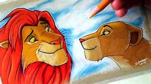 Lion King Simba and Nala Drawings