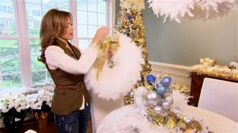 feather boa wreath  lisa robertson youtube