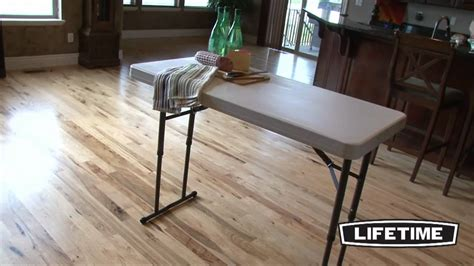 Lifetime 4 Ft Adjustable Folding Table (model 80161) Toronto Coffee Tables Round Canada Oak Tiered Table Sleeper Book Publishers India Cream Leather Ottoman Eames Surfboard