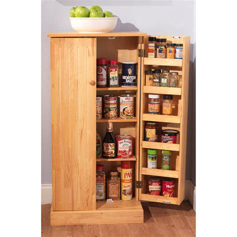 Food Pantry Cabinet by Kitchen Utility Pantry Pine Wood Cabinet Storage Food