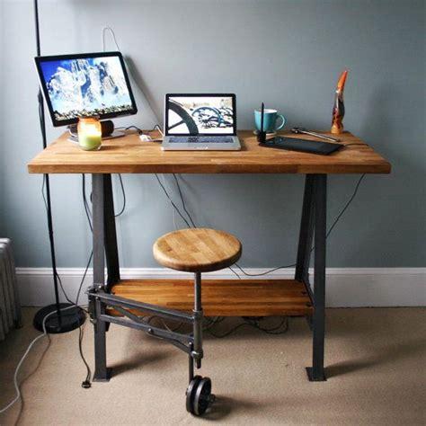 industrial stand up desk 97 best reclaimed wood desk images on pinterest
