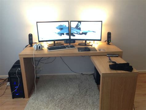 Ikea Computer Desk Setup by Ikea Desk Gaming Setup Hostgarcia