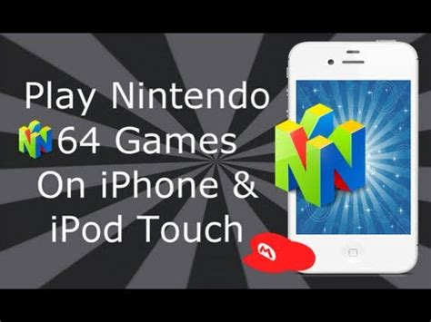 n64 emulator iphone nintendo 64 emulator on iphone 4s 4 3gs ipod touch