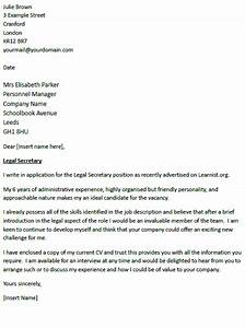 legal secretary cover letter example icoverorguk With what to include in a cover letter uk