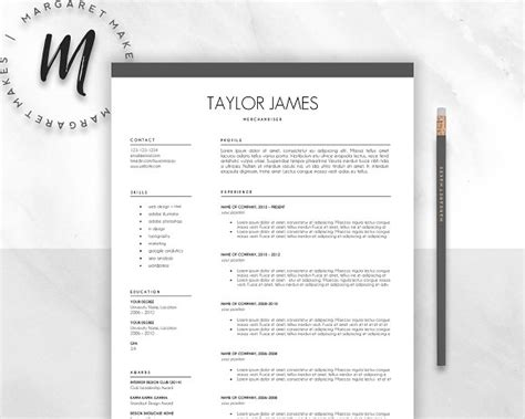 Resume Template Minimalist by Minimalist Resume Template Resume Templates Creative