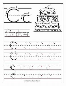 free printable worksheet letter c for your child to learn With learning to write letters for kids