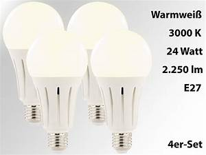 Led E27 3000 Lumen : luminea high power led lampe e27 24 watt lumen 3000 k 4er set ~ A.2002-acura-tl-radio.info Haus und Dekorationen