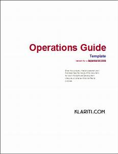 9 ms word templates for operations maintenance phase of With operation manual template word