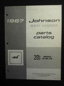 Purchase 1967 Johnson Outboard Motor 20 Hp Parts Catalog