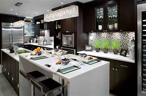 two tone cabinets contemporary kitchen brandon barre With best brand of paint for kitchen cabinets with box signs wall art