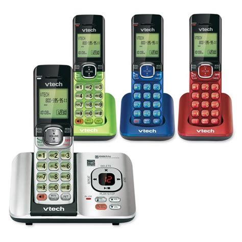 vtech phone battery 4 handset answering system with caller id call waiting