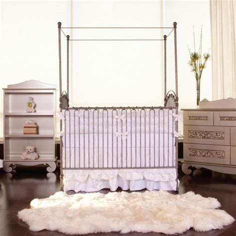 bratt decor venetian crib antique white venetian crib in pewter by bratt decor cribs furniture