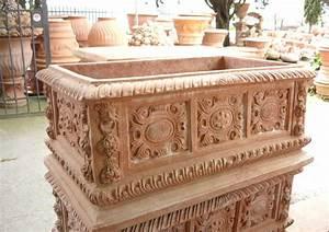 Pflanzkübel Terracotta Eckig : term hlen terracotta impruneta terracotta kasten mit reicher ornamentik ~ Orissabook.com Haus und Dekorationen