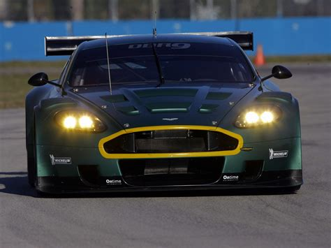 aston martin dbr  green front view style sports car