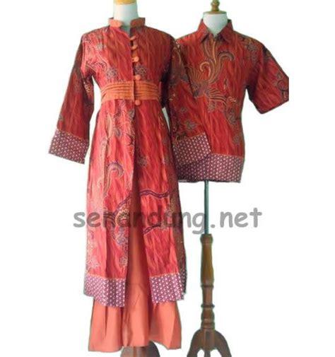 gamis batik sarimbit modern warna orange modern batik sekar pinte