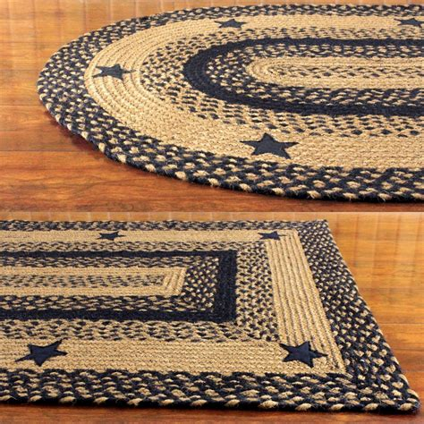 braided doormat ihf home decor country style oval rectangle braided