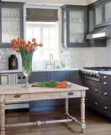 Charcoal Gray Cabinets   Transitional   kitchen   C. W. Eisner
