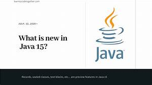 What, U0026, 39, S, New, In, Java, 15