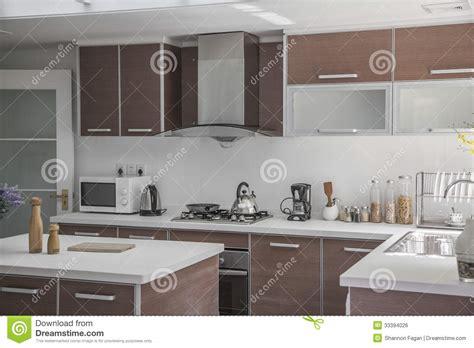 grande cuisine ouverte grande ouverte moderne cuisine photo stock image