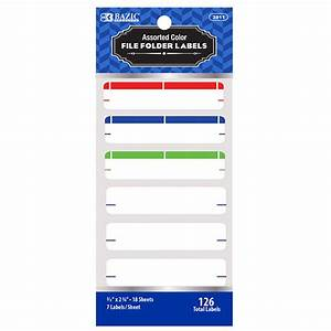 assorted color file folder label 126 pack postmaster depot With colored file folder labels
