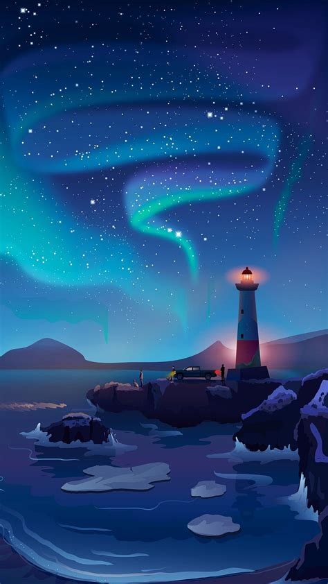 Artistic Iphone X Wallpaper by Light House Artistic Sky Iphone Wallpaper