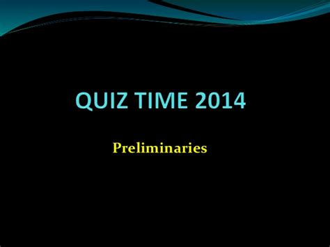 The Open Boat Quiz Answers by Quiz Time 2014 Prelims Answers