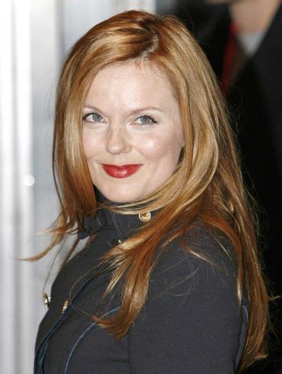 geri halliwell long hair  layers  cinnamon color