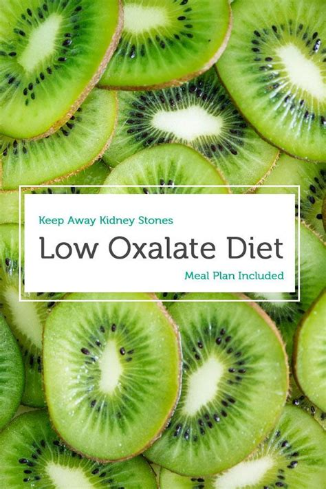 oxalate diet low kidney stones meal plans