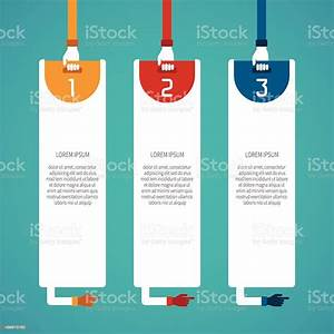 Graphic Template Of Three Step Instructions Stock Vector
