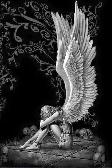 Pin by Larry Lynch on Tattoos | Angel drawing, Angel wings wall art, Gothic angel