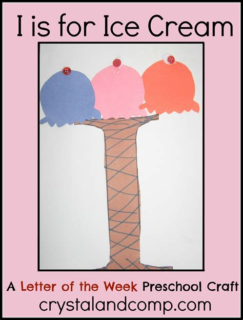 alphabet activities for preschoolers i is for craft 603 | I is for ice cream crystalandcomp