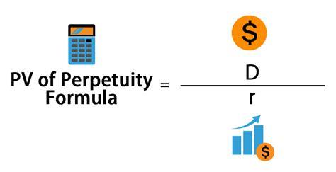perpetuity formula calculator  excel template