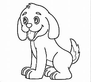 puppy outline coloring page cute coloring