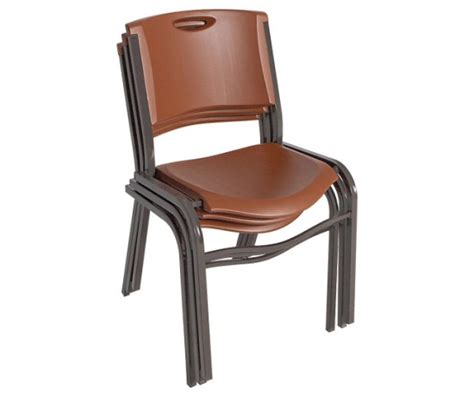 lifetime stacking chairs 14 pk lifetime chairs 80192 brown stacking chairs 14 pack