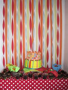 Backdrop using streamers | Party Ideas | Pinterest