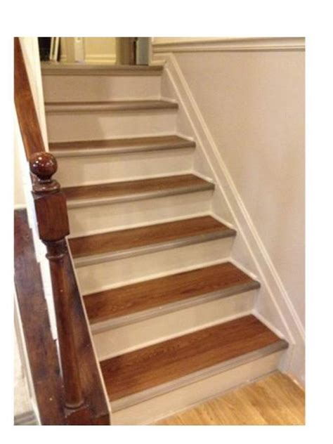 vinyl flooring for stairs refinished stairs do it yourself home projects from ana white