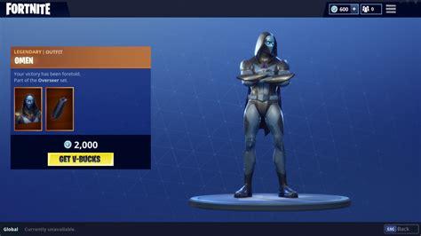 fortnite omen skin added  item shop   hero